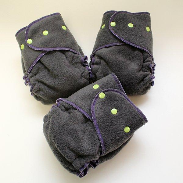 Charcoal Gray [Fleece Sleepy]  - Size 1.5 Serged - Charcoal Velour