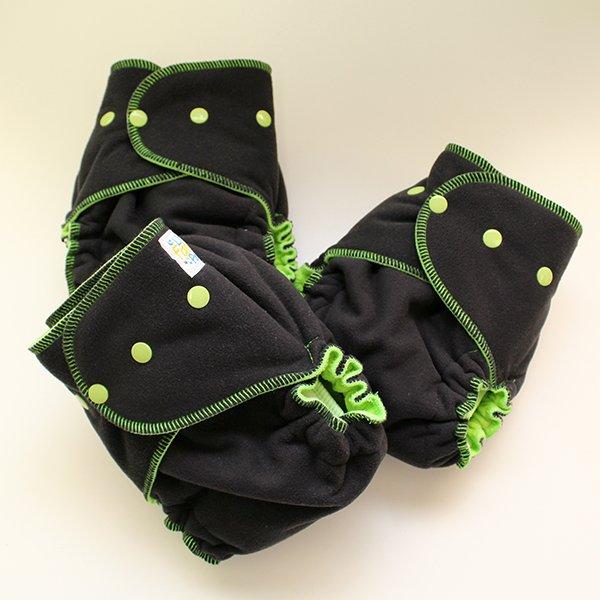 Black Windpro [Sleepy]  - Size 1.5 Serged - Lime Velour