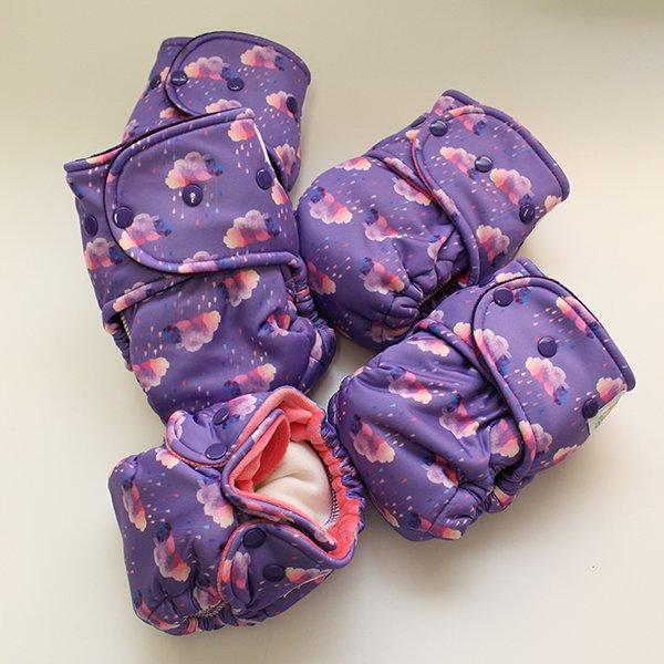 Amethyst Rain Redux [Swimsuit Knit]  - Size 2 - Grape Velour