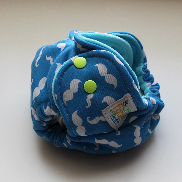 Mr. Mustachio - T&T Newborn - Aqua Velour *Read Listing*