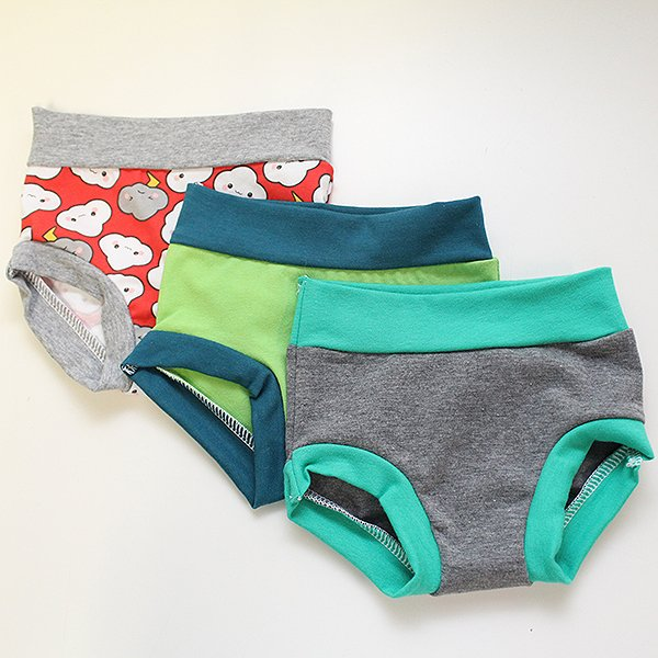 Red Cranky Clouds 3 Set - Undies 12mos