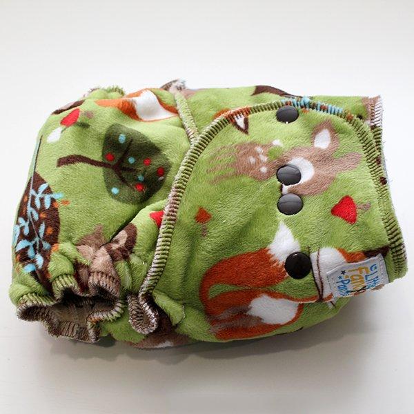 Woodland Sleepy *SECONDS* - [Minky] Serged Size 1.5 - Khaki Velour