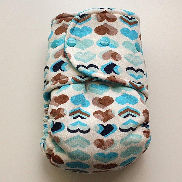 Serene Hearts - Size 2 - [Knit] Dark Aqua Velour