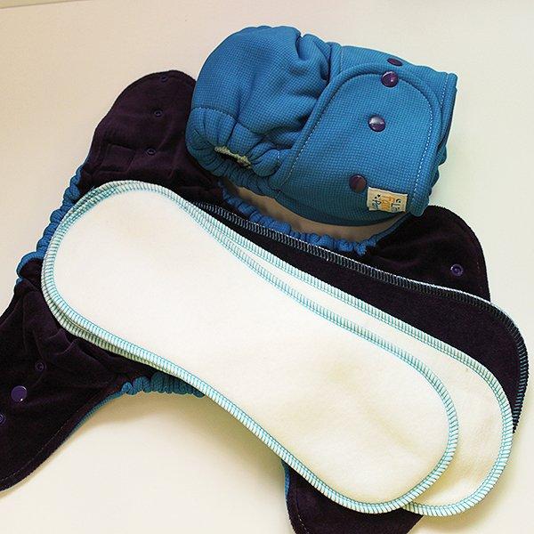 Blue Polartec Sleepy - Size 2 - Grape Velour