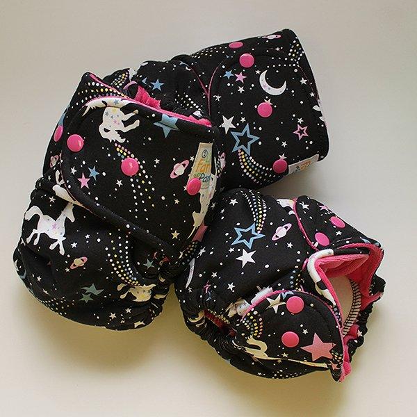 Black Unicorn Cosmo [Knit] - Size 2 - Hot Pink Velour