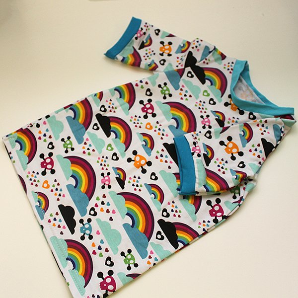 [Tester] Shirt - Toxic Rainbow  3T