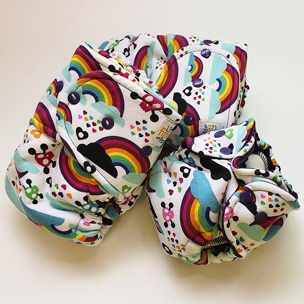 Toxic Rainbow [Knit] - Newborn - Grape Velour