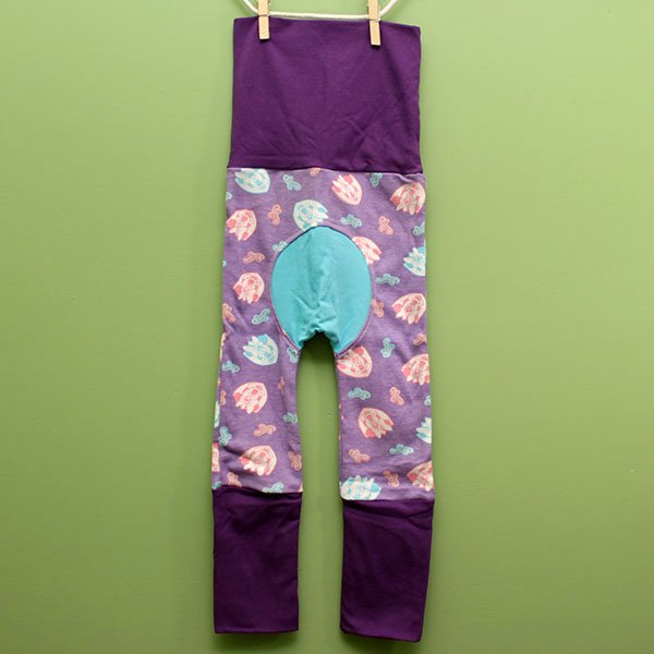 "Love Bums ""Fancy Pants""  - Minnie & Purple (Size 1) with bum circle"