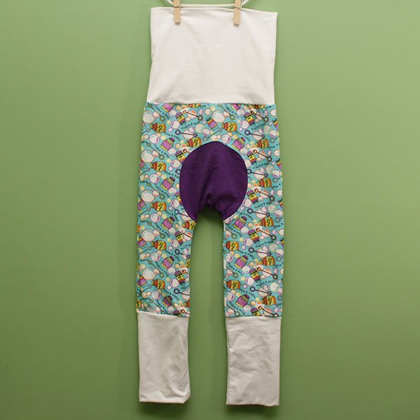 "Love Bums ""Fancy Pants""  - Bubbles w/ white (Size 1) with bum circle"