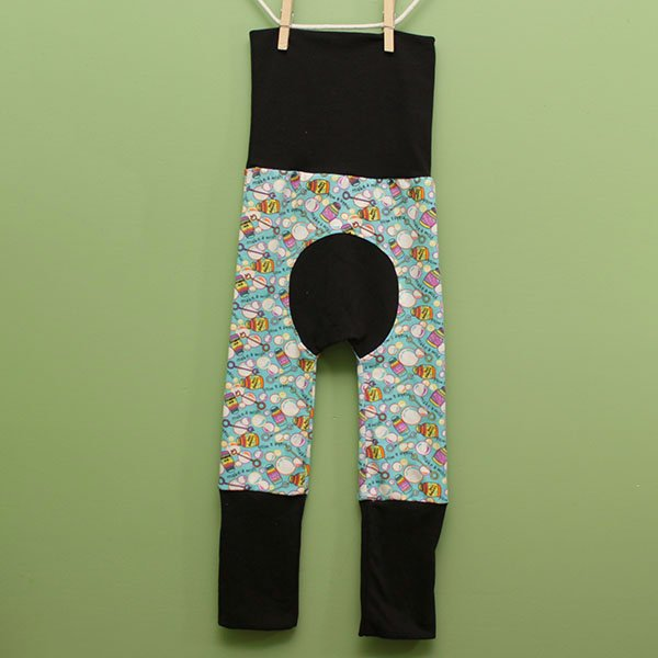 "Love Bums ""Fancy Pants""  - Bubbles w/ black (Size 1) with bum circle"