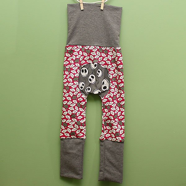 "Love Bums ""Fancy Pants""  - Clouds w/ Skellington (Size 1) with bum circle"