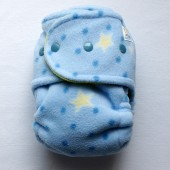 Starry Night Sleepy - OS Size 2 - Night Time Hybrid Fitted (Fleece out, Yellow in)