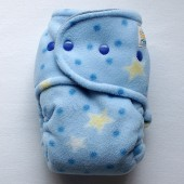 Starry Night Sleepy - OS Size 2 - Night Time Hybrid Fitted (Fleece out, Denim in)